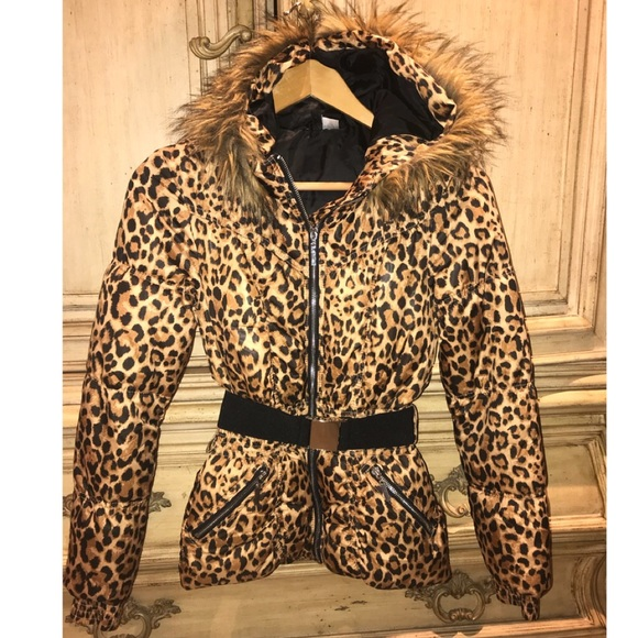 4484ca622856 Divided Jackets & Coats   Hm Leopard Puffer Jacket S 2 Animal Print ...